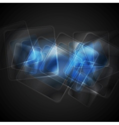 Abstract blue glossy squares background vector