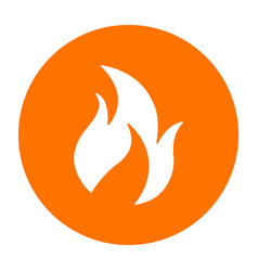 abstract fire symbol on a circle vector image
