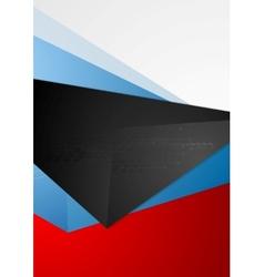 Abstract tech flyer design vector