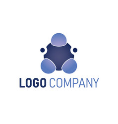 abstract technology logo template globe sphere vector image