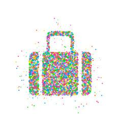 abstract tourist bag vector image