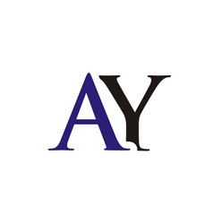 ay initials letter logo vector image