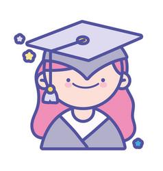 Back to school education graduate happy student vector