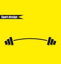 barbell - single icon design vector image