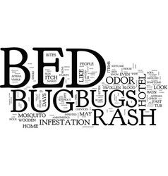 Bed bugs and dust mites picture text background vector