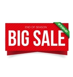 Big sale banner template vector