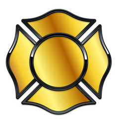 Blank fire rescue logo base gold with black trim vector