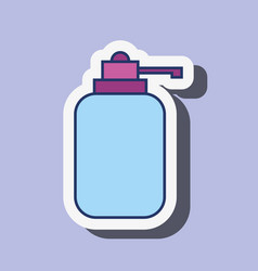Bottle liquid soap dispenser sticker bathroom vector