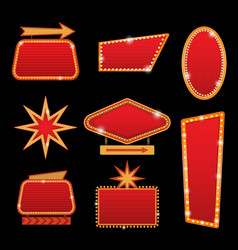 Brightly casino or theater glowing retro vector