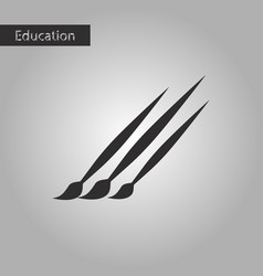 Brushes black and white style icon vector