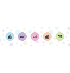 Buying icons vector