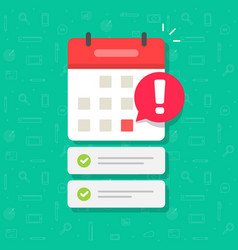 calendar with important deadline date and task vector image
