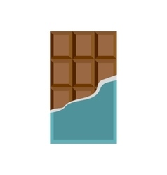 Chocolate icon in flat style vector image