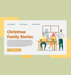 Christmas family and friends celebration story vector