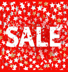 color stars on red background sale concept vector image