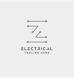Connect or electrical z logo design icon element vector