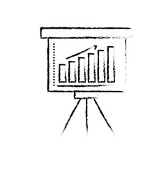 figure strategy presentation with statistics bar vector image
