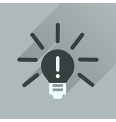 Flat icon with long shadow light bulb idea vector
