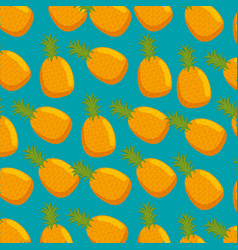 fresh pineapples pattern background vector image