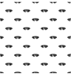 Glasses for snowboarding pattern simple style vector image