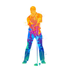 golf sport silhouette vector image