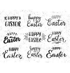 happy easter hand drawn calligraphy design vector image