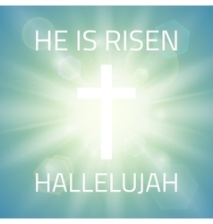 He is risen Hallelujah vector image