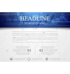 Hi-tech corporate background with blue header vector