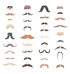Huge collection mustache retro curly set Mustache vector image