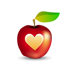 Icon of Tasty Apple with Heart vector image