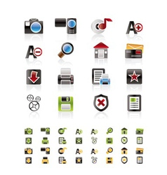 Internet and website icon set vector