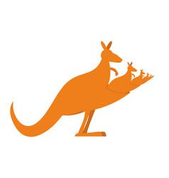 Kangaroo recursion lot of australian kangaroos vector