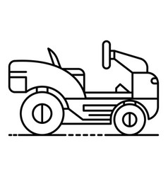 Lawn mower tractor icon outline style vector