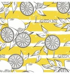 Lemons on yellow stripes vector