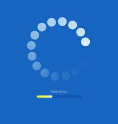 Load bar for mobile apps web preloader on blue vector