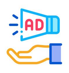 loudspeaker hand icon outline vector image