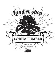 Lumber Shop Label Design Elements vector image