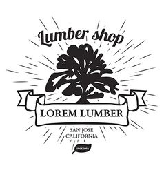 Lumber shop label design elements vector