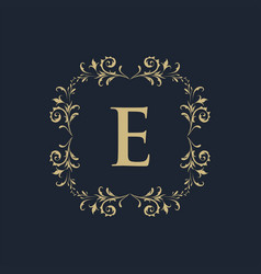 Luxury crest decorative hotel boutique logo vector