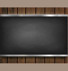 menu blackboard on a wooden background vector image