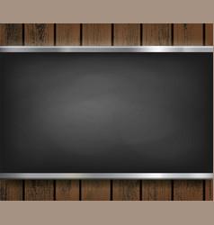 Menu blackboard on a wooden background vector