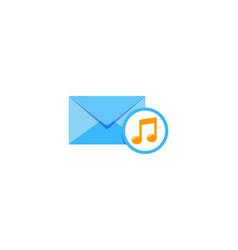 music mail logo icon design vector image