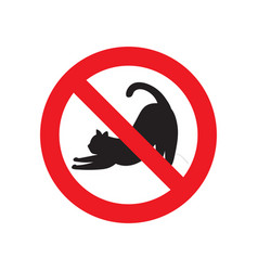 no cat sign vector image