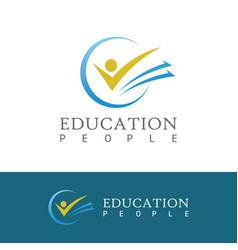 People book education logo vector