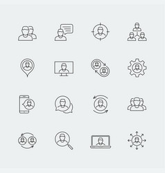 Person people personnel staff related icon set vector