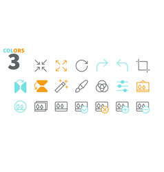 Photo pixel perfect well-crafted thin line vector