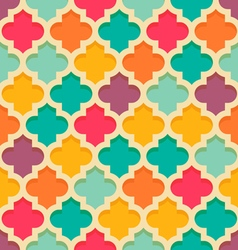 Quatrefoil moroccan pattern vector