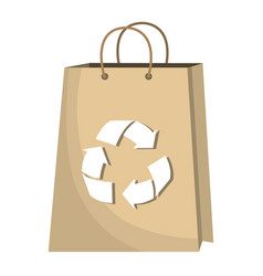 recycle bag shopping icon vector image