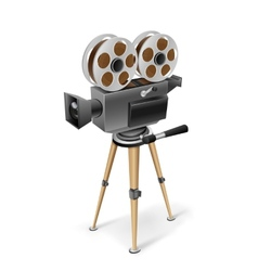 retro cinema camera vector image