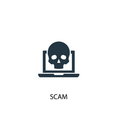 Scam icon simple element vector